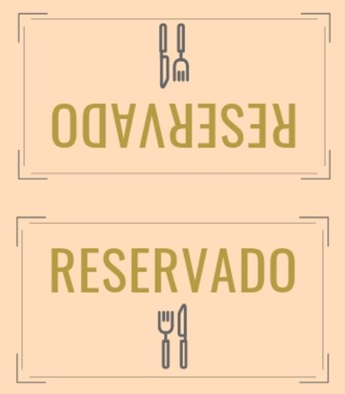 5. Placa de reservado para estabelecimentos.