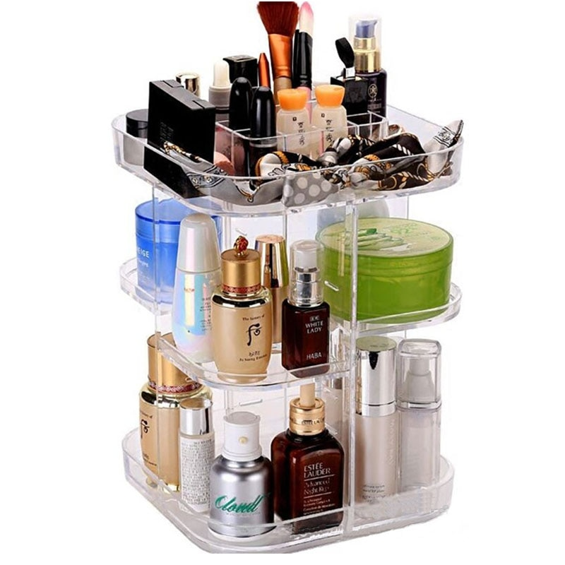 Acrylic Makeup Storage Rotating Organizer For Your Beauty Products