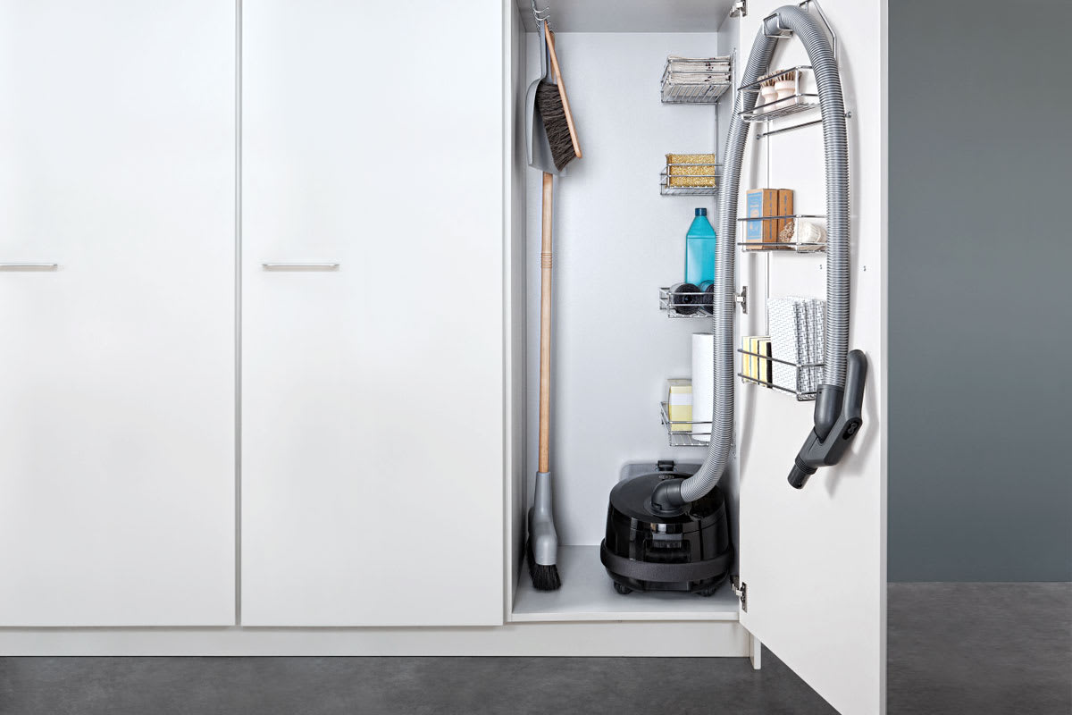 A properly stored vacuum cleaner saves space and prevents unnecessary damage to the appliance Source; qualitybath.com
