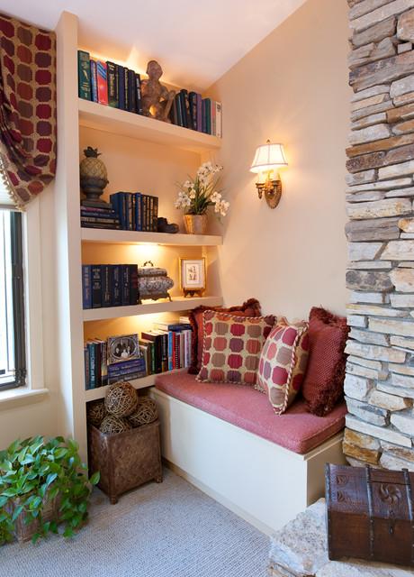 Tận dụng góc nhà nhỏ để làm không gian đọc sách