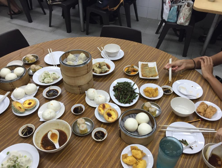 A table full of delicious Dim SUm