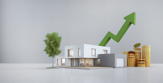 Ilustrasi harga real estate yang semakin naik