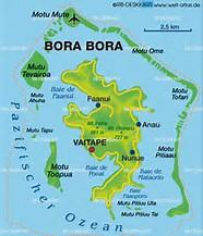 Image result for map of bora bora island