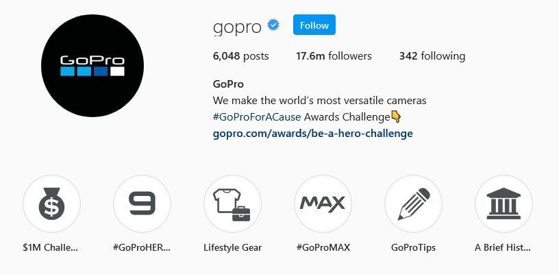 instagram brands gopro
