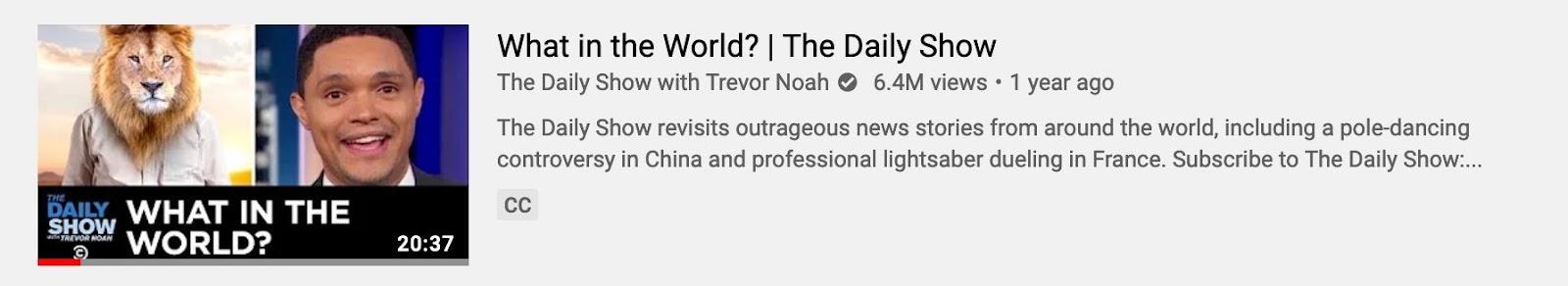 Daily Show thumbnail