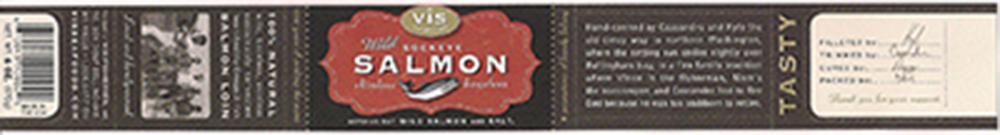 Vis Seafoods, Wild Sockeye Salmon, 6 oz., 6 10041 10002 9