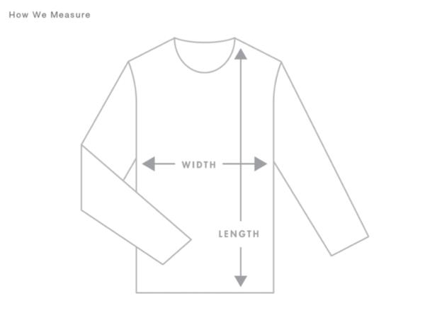 Hoodie Pullover Measurement