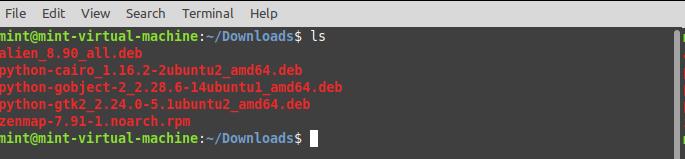 Install Zenmap in Linux Mint - Download Zenmap. Source: nudesystems.com