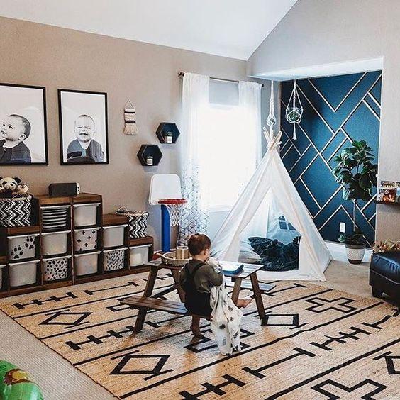 Mid Century Modern Playroom