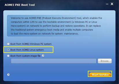 Lan boot software download