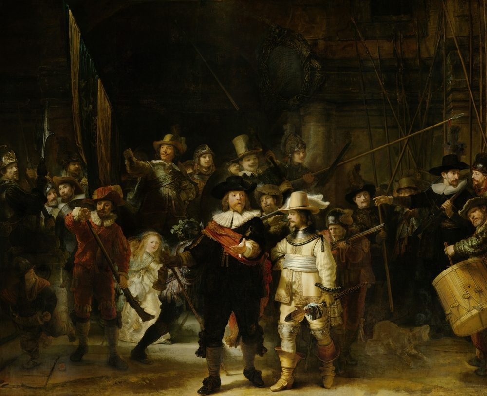 Rembrandt's masterpiece, The Night Watch, the most famous painting of every Rijksmuseum highlights list.