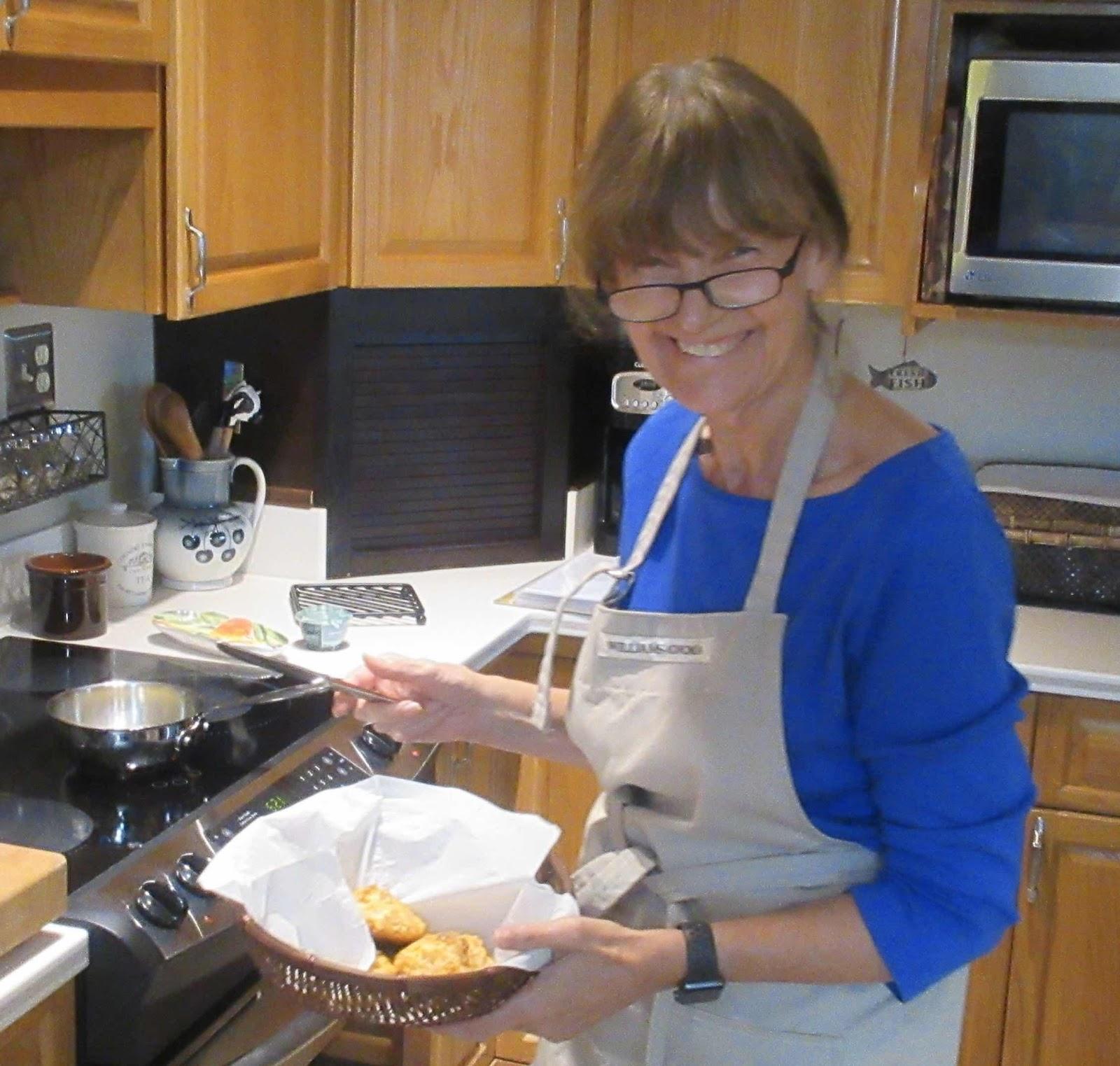 Eta Gordon prepares dinner