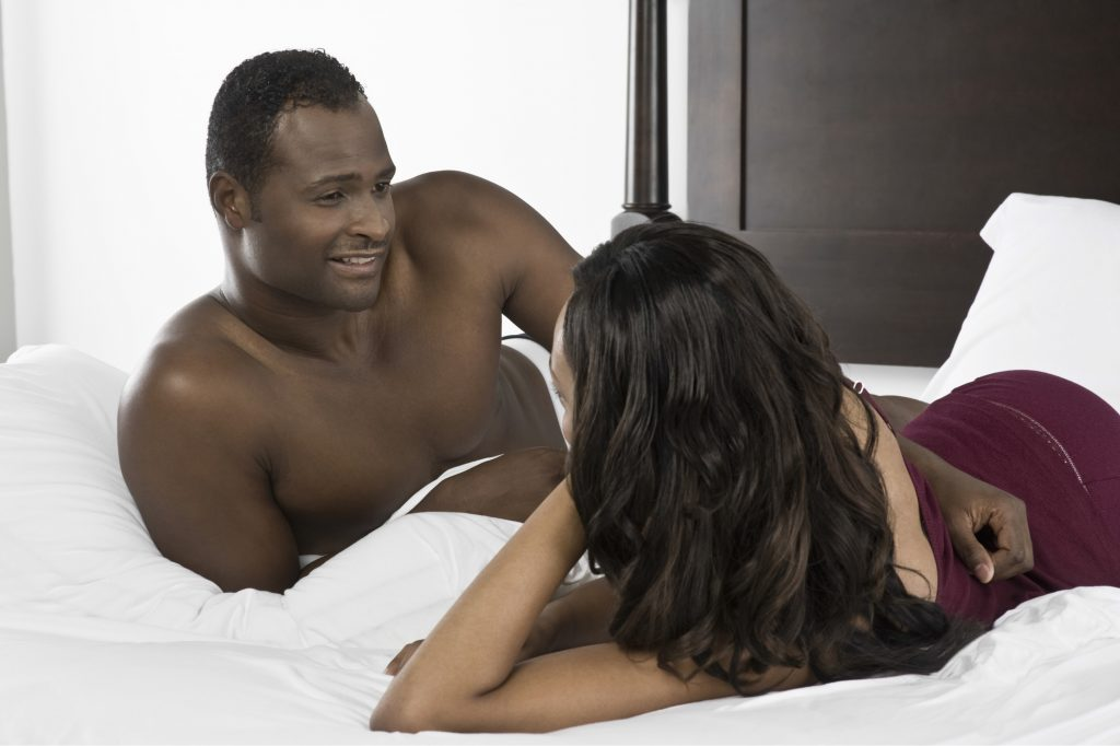 couple talking after sex