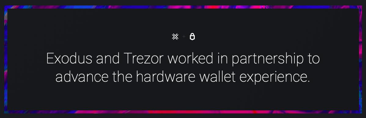 Exodus wallet trezor