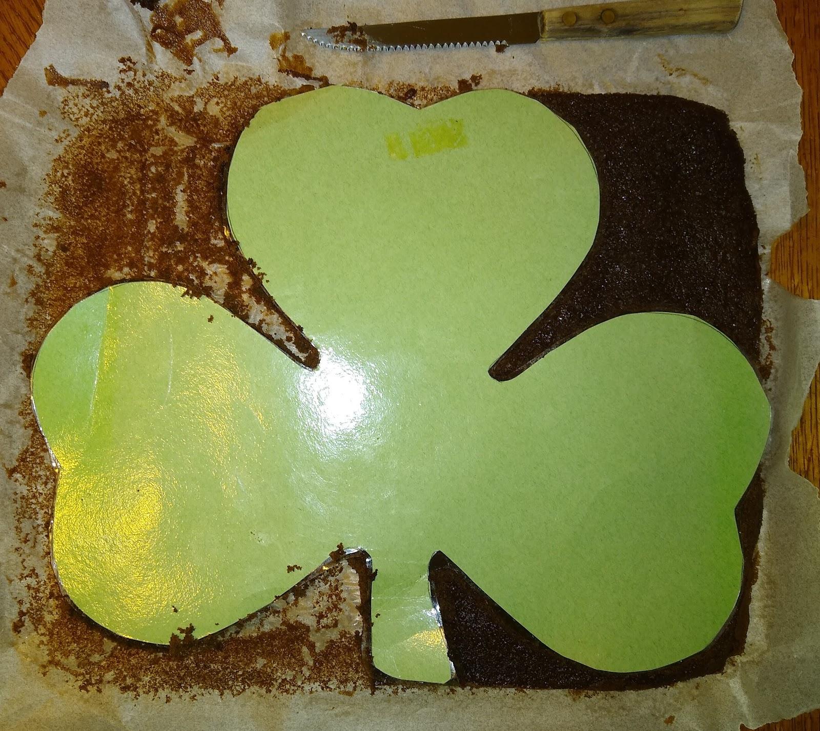 shamrock cake stencil picture