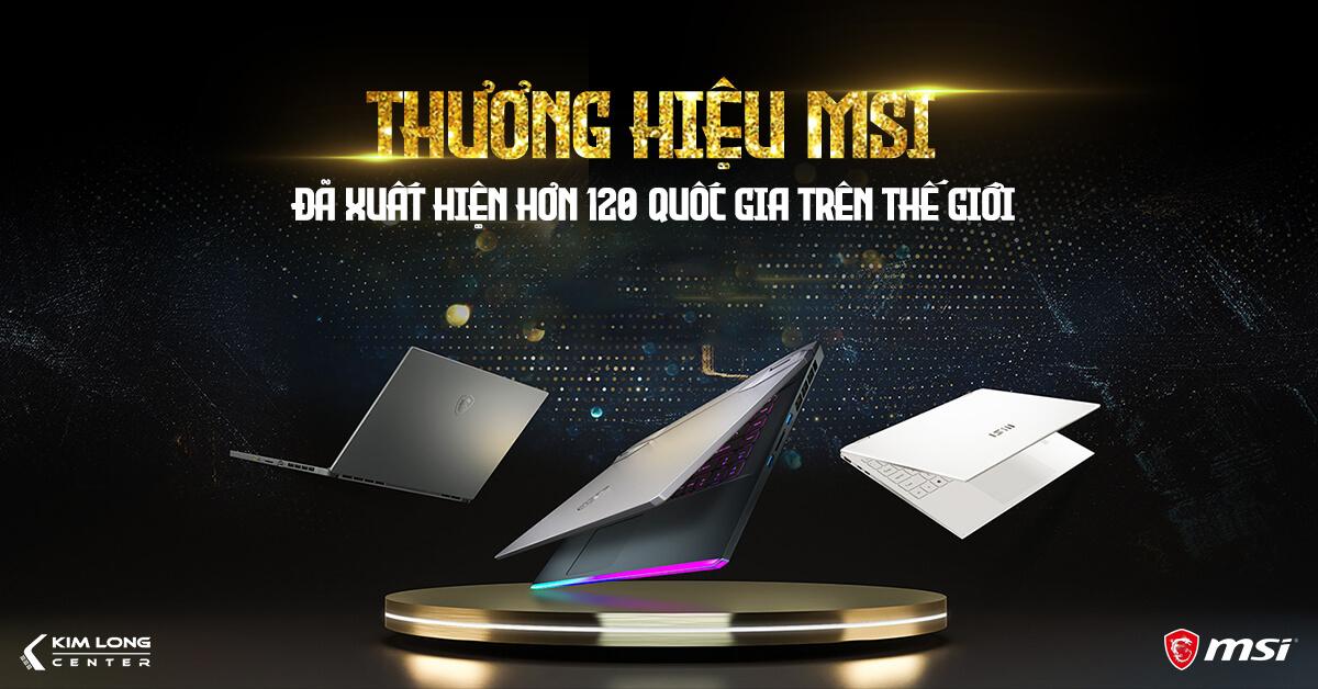 thương hiệu laptop MSI