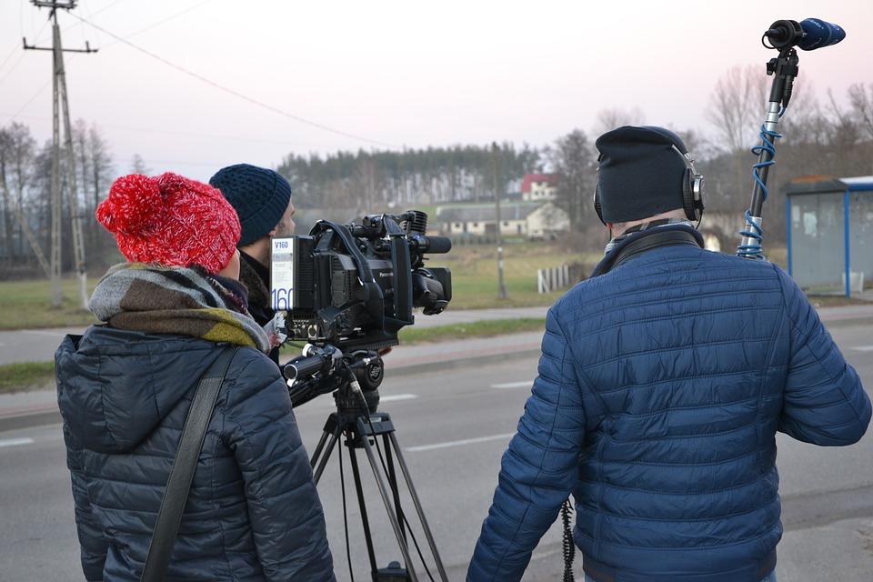 テレビの取材班, テレビ ・ ラジオ, 記者, 撮影, ニュース