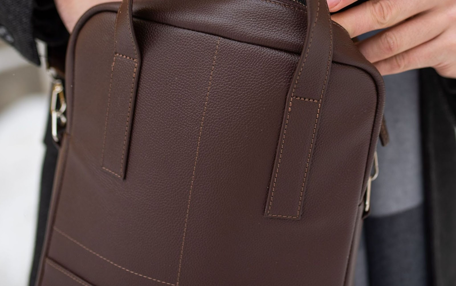 мужская сумка из фактурной кожи