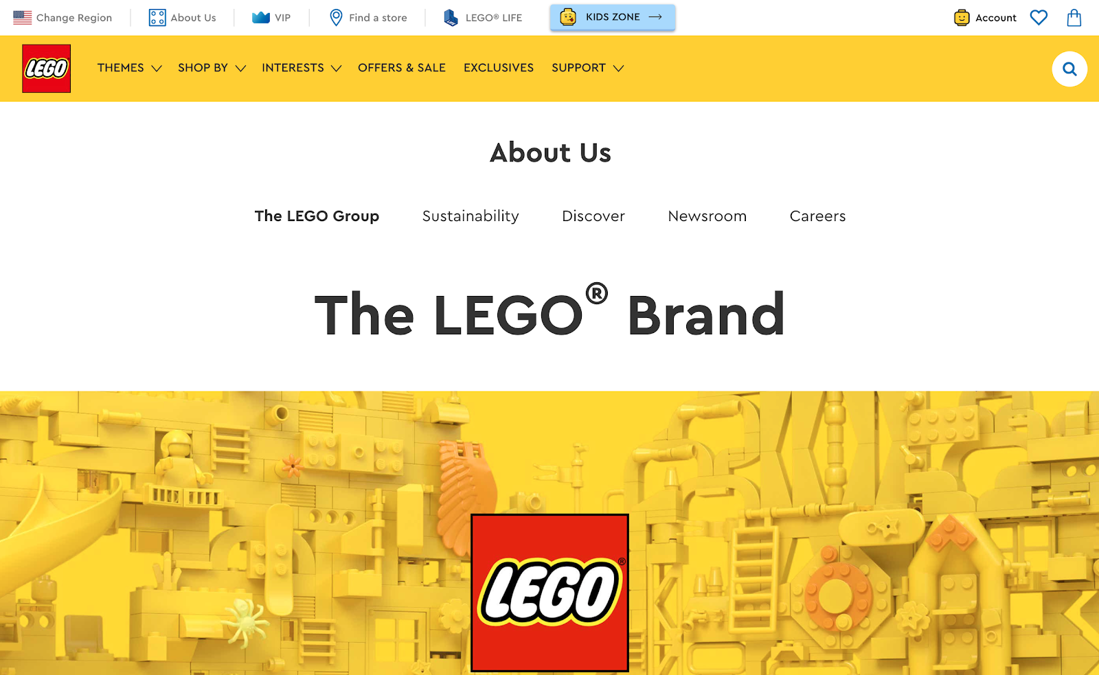 Lego landing page