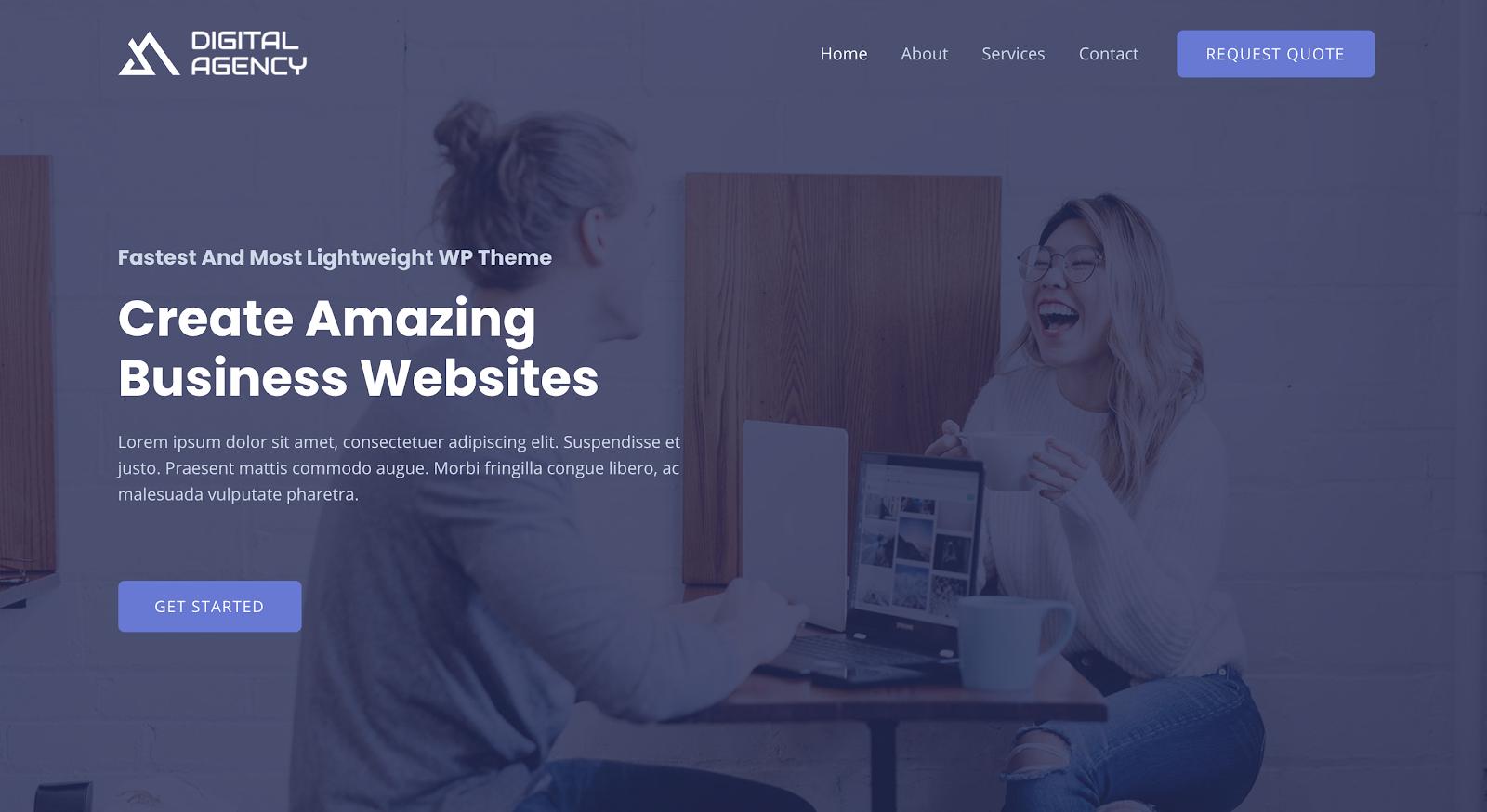 Web Design Business Template