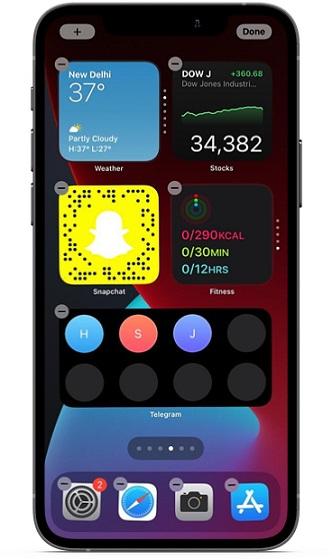 Interactive widgets