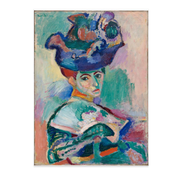 Henri Matisse (1869-1954)  Femme au chapeau (Woman with a Hat),1905