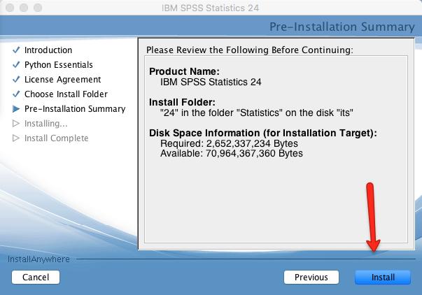 Mac SPSS Install