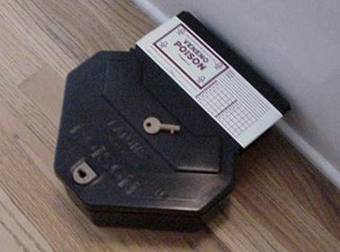 Rat tamper proof bait stations