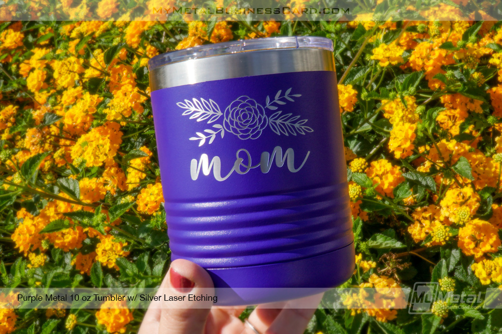 Purple 10 Oz Personalized Metal Tumblers Ready For Your Name Or Logo