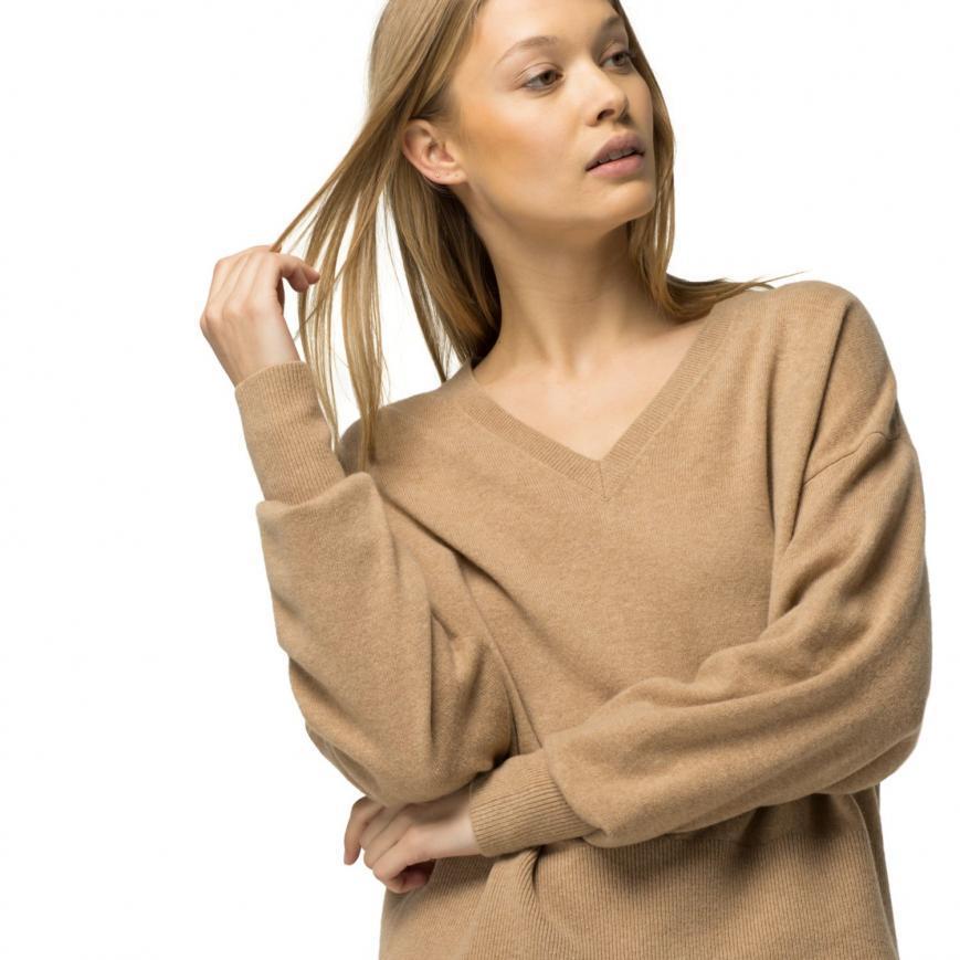 women wear v neck sweater,winter capsule wardrobe