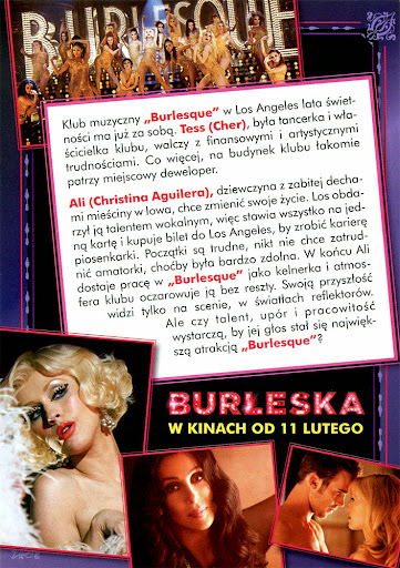 Tył ulotki filmu 'Burleska'