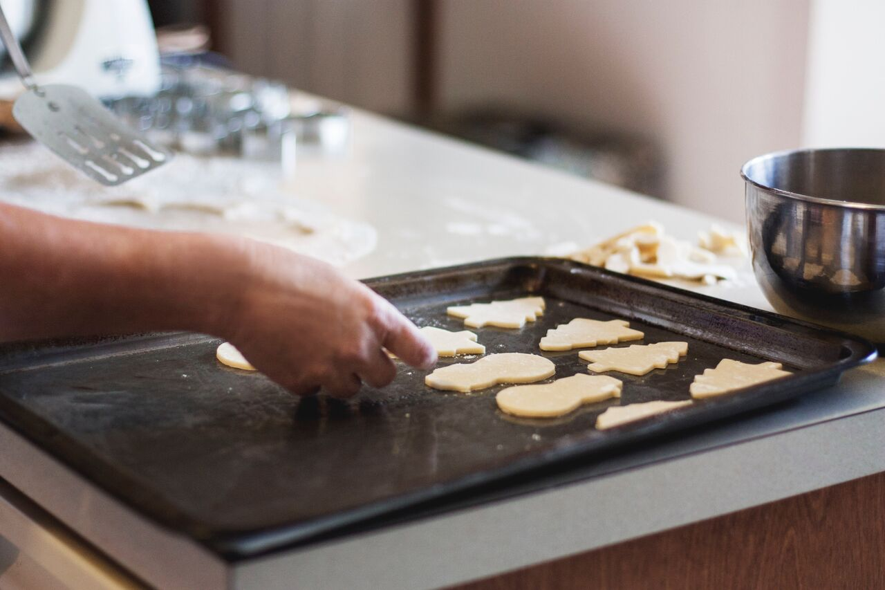 kitchen decluttering christmas cookies baking family barrington il