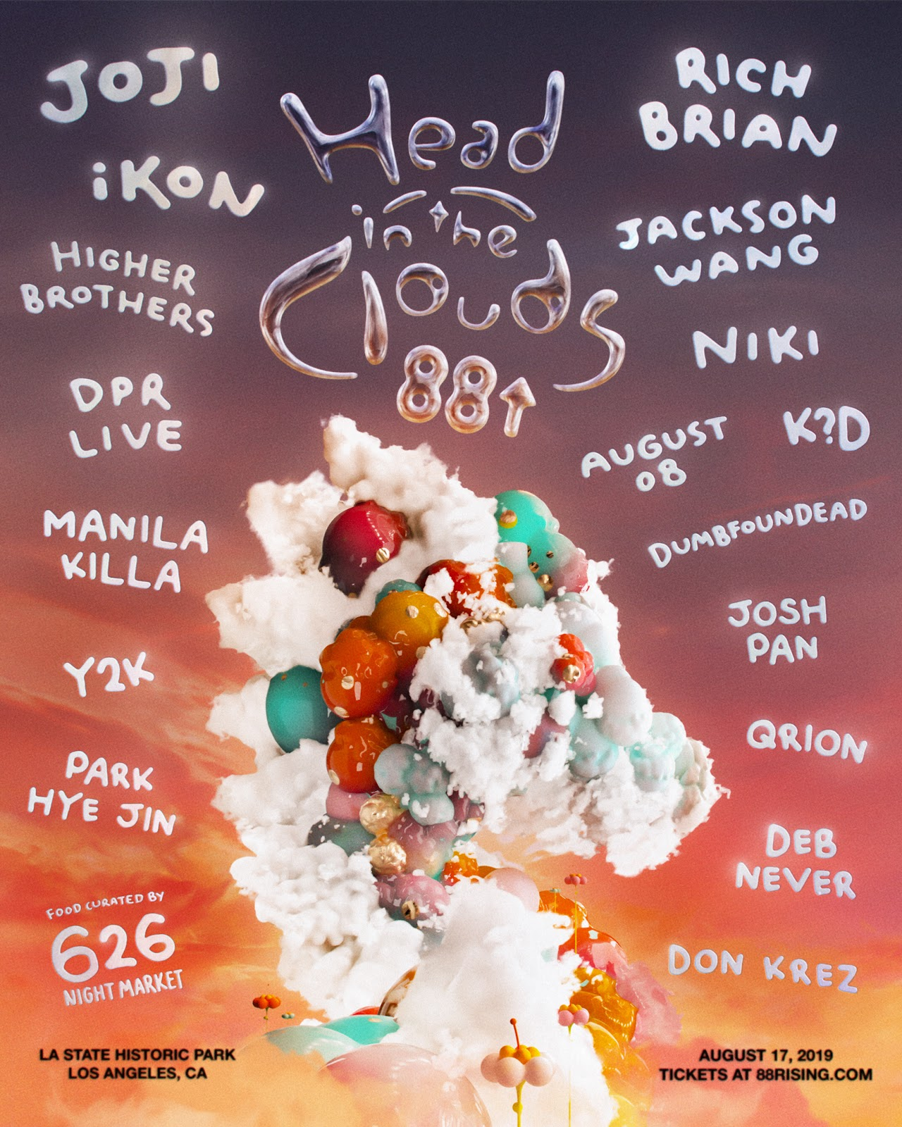 88Rising announces full lineup and new electronic stage for Head in the Clouds Festival 2019JtzqYgaaFd9b1di42JgJNmH 3YySAboYOH 3u6JJn82bAnsQavHROjVWR1PdTu81fzGVOWmAmp8adZi 7Dpil7SCSqvaZ9kRaYk5yUv WqlQPOhLjs5Lgzfi8YfqKVt3I
