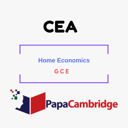 Home Economics General Certificate of Education PPT Slides