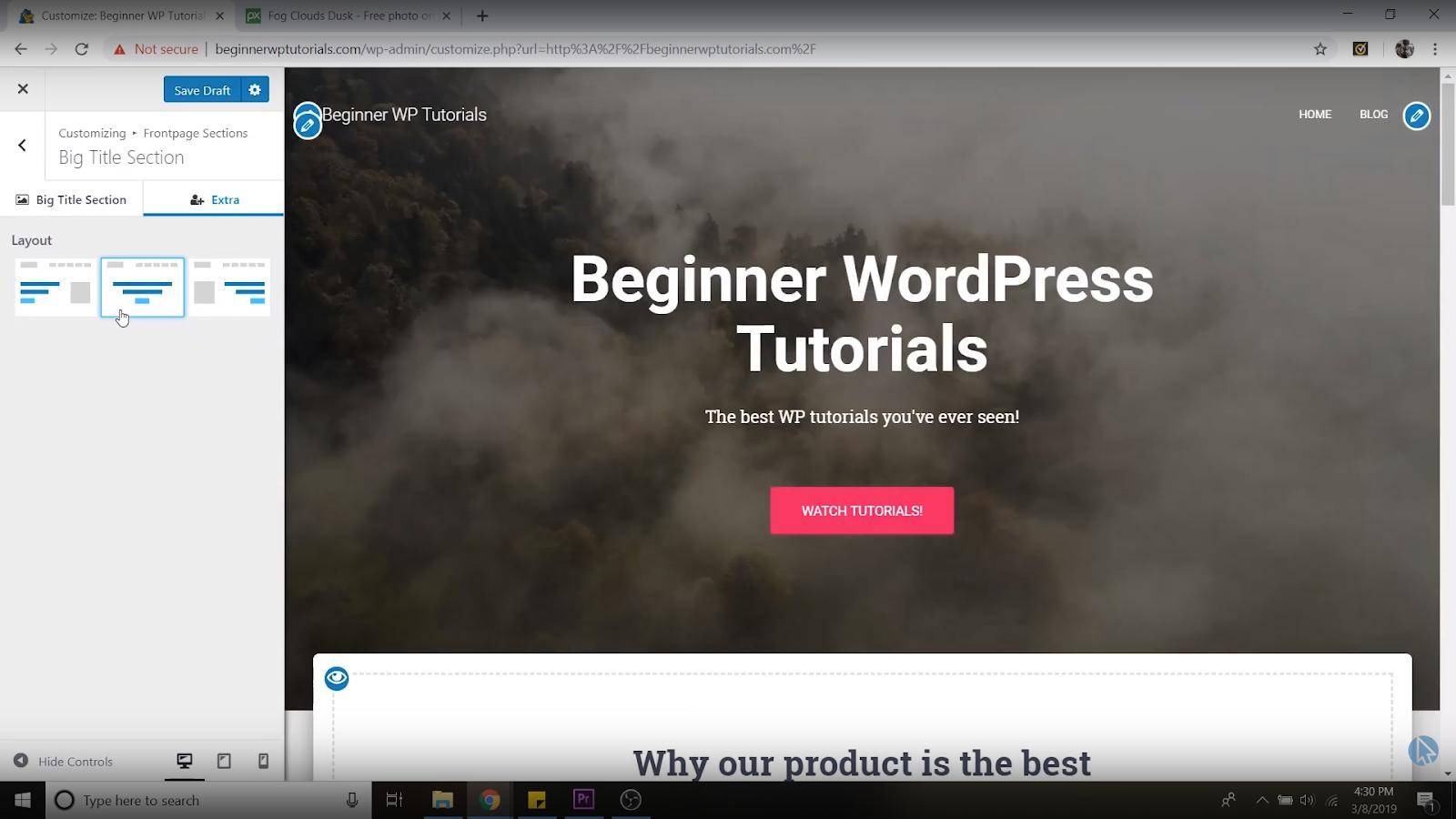 font alignment wordpress tutorial for beginners