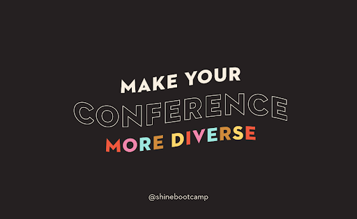 Conference speaker diversity is important - learn how to achieve this without being performative.