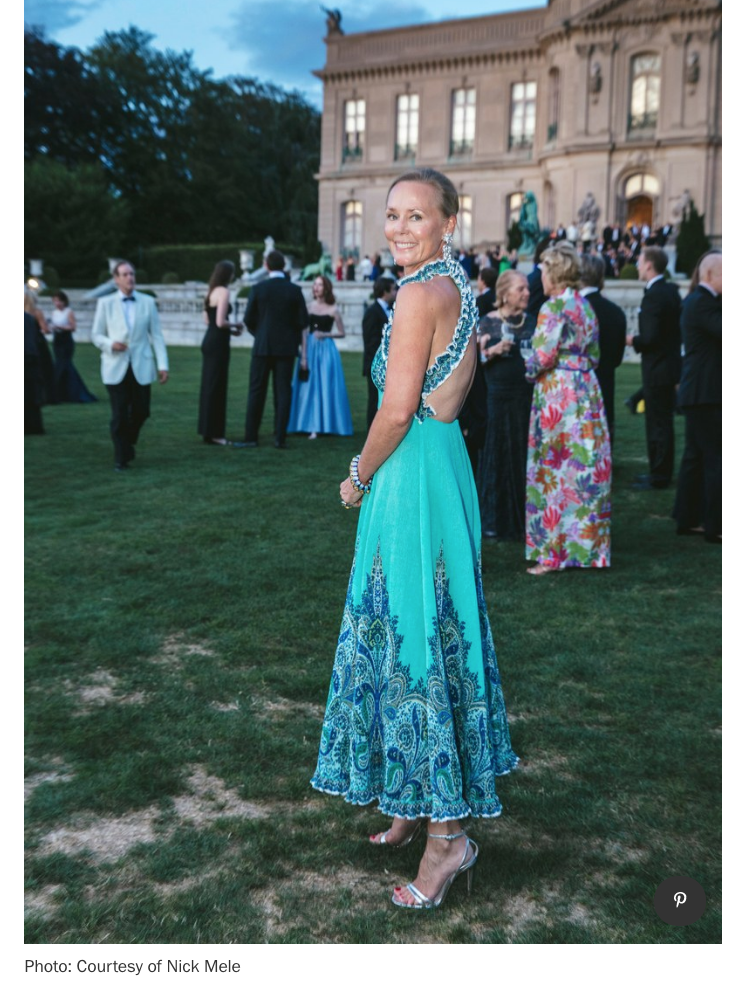Hilary is a devotee of  Armarium, the couture rental company that specializes in high end luxury brands.  Here is a stunning photo of her Zimmermann dress from Armarium, taken by Nick Mele at the Preservation Ball, in Newport this past August.