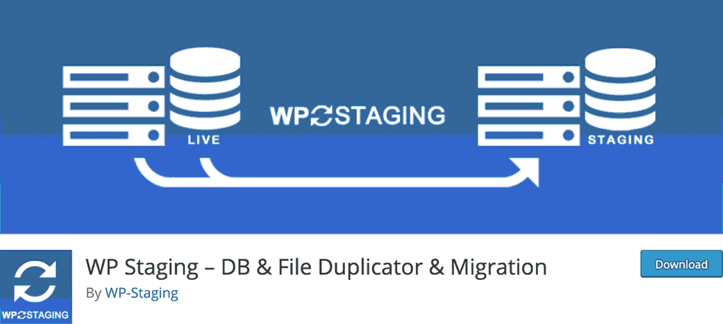 página de download do plugin para wordpress wp staging