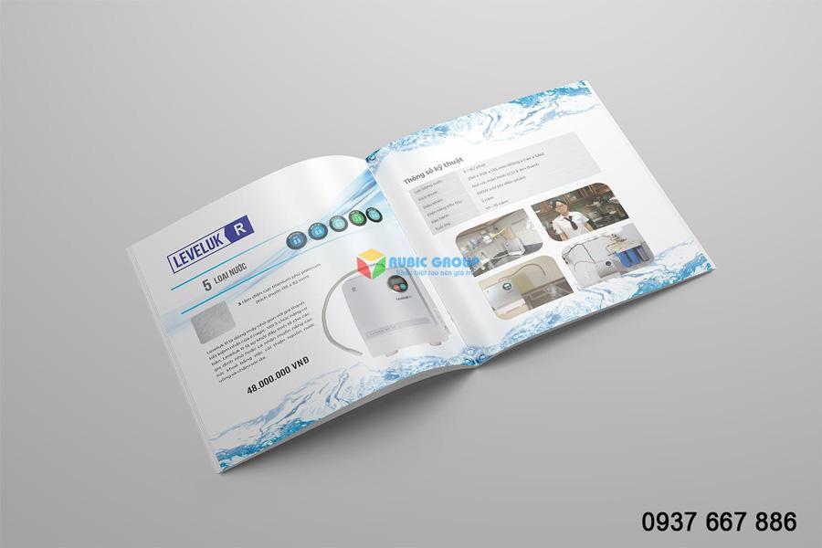 Mẫu thiết kế catalogue của máy lọc nước Thiên An