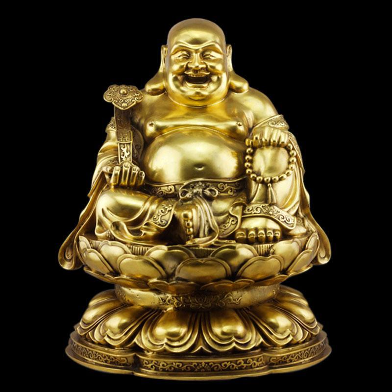 Tượng Phật di lặc bằng đồng nguyên chất