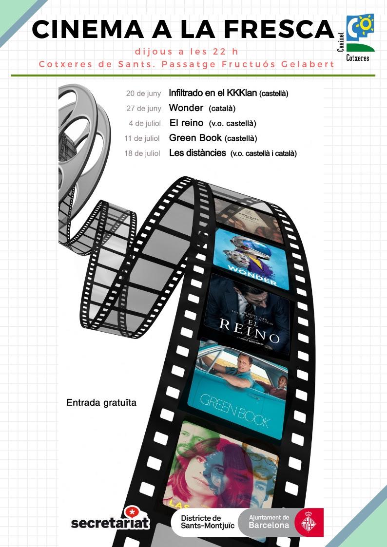 Cinema a la fresca-Les Cotxeres de Sants