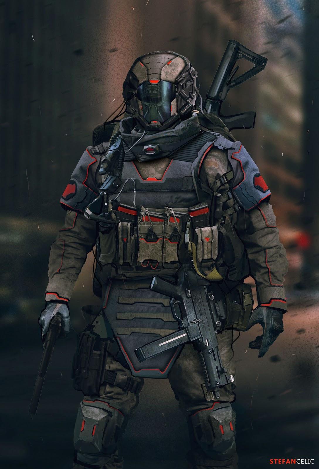 ArtStation - Soldier Concept, Stefan Celic | Sci fi concept art ...