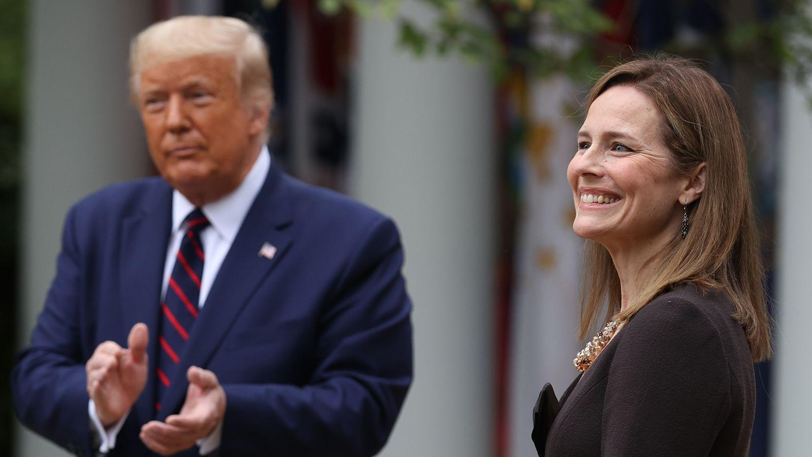 Amy Coney Barrett announced by Donald Trump to replace ...