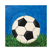 canvas painting design - Soccer Time