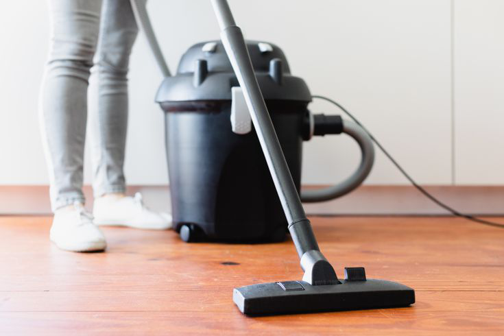 Regular vacuuming is one of the best ways to reduce the population of dust mites in your home Source: spruce.com