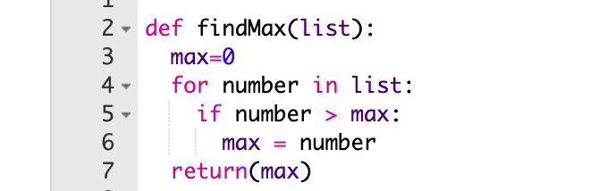 An algorithm in coding example