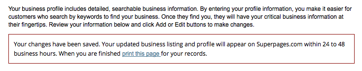 verify superpages information