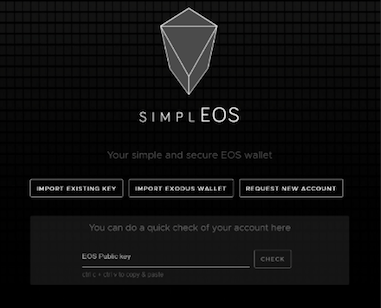 Кошелек Simple EOS