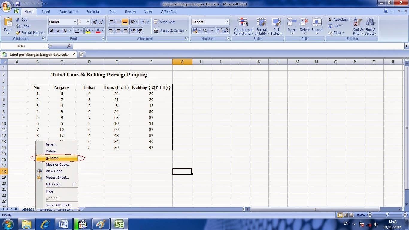 belajar, microsoft, excel, cara, penggunaan, worksheet