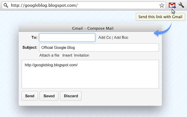 Send from Gmail (by Google) chrome extension